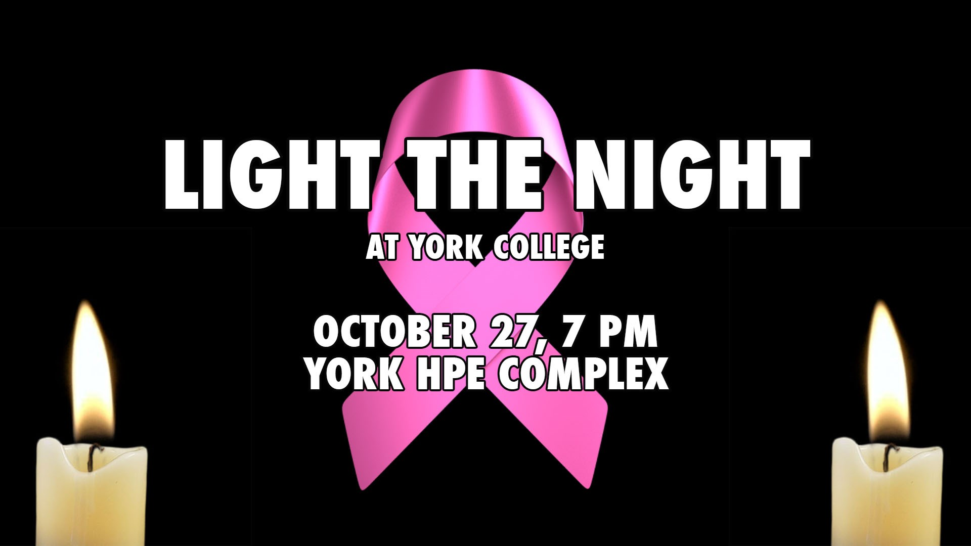 york athletics. york athletics to hold \u201clight the night\u201d for breast cancer awareness